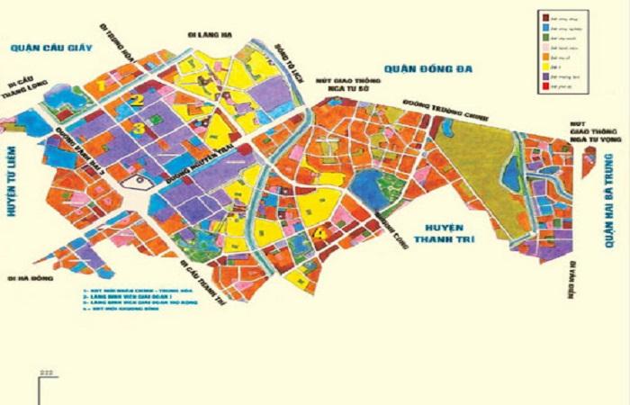 Bản đồ đất huy hoạch một địa phương